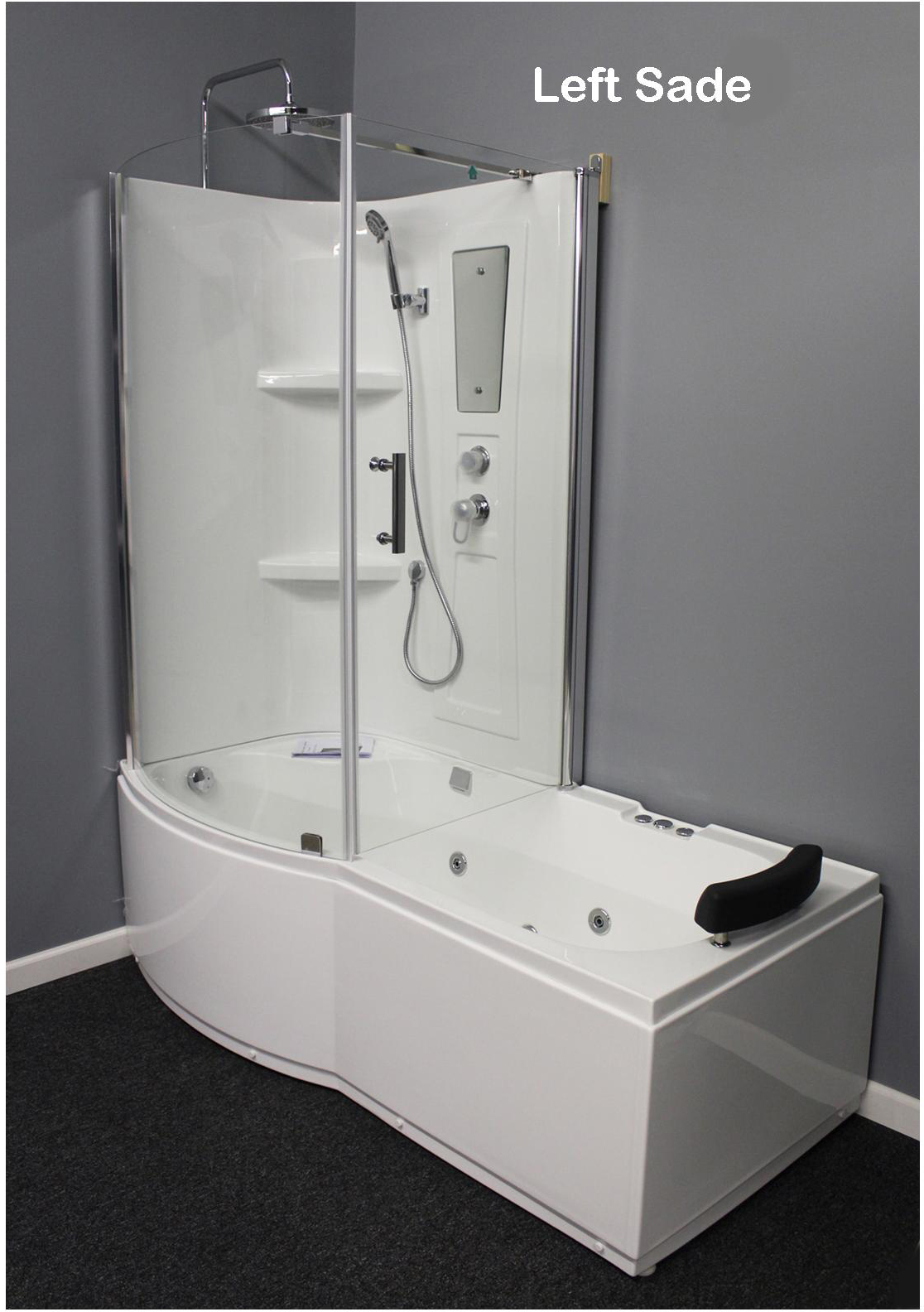 Shower Room with Deluxe Whirlpool Tub . 9045 Lux with air bubbles ...