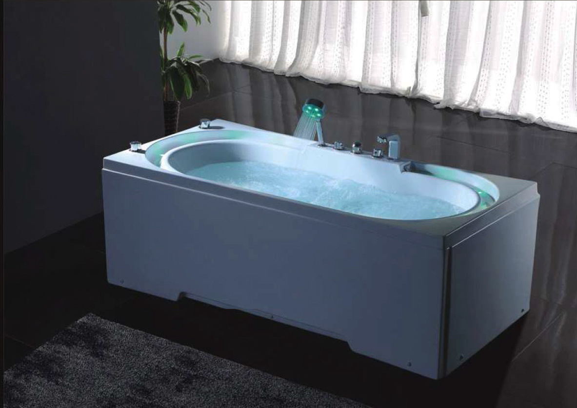 hydrotherapy massage bathtub with multicolored led. Black Bedroom Furniture Sets. Home Design Ideas