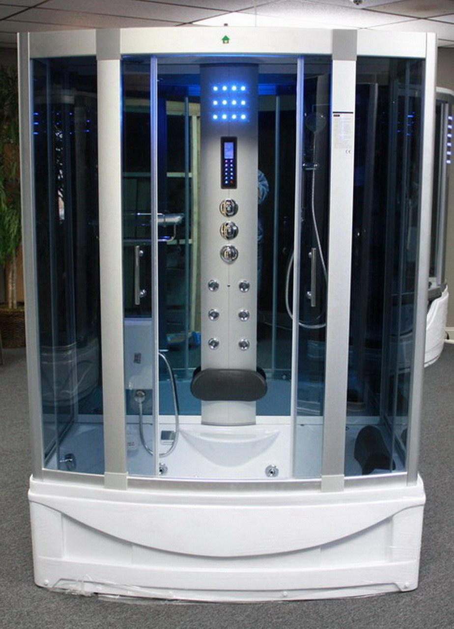 Steam Shower Room With Deep Whirlpool Tub Heater 1500w