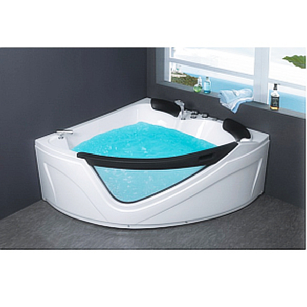 Corner JETTED BATHTUB ,Whirlpool & Air Bubble & Massage,Heater. C038 - Image 1