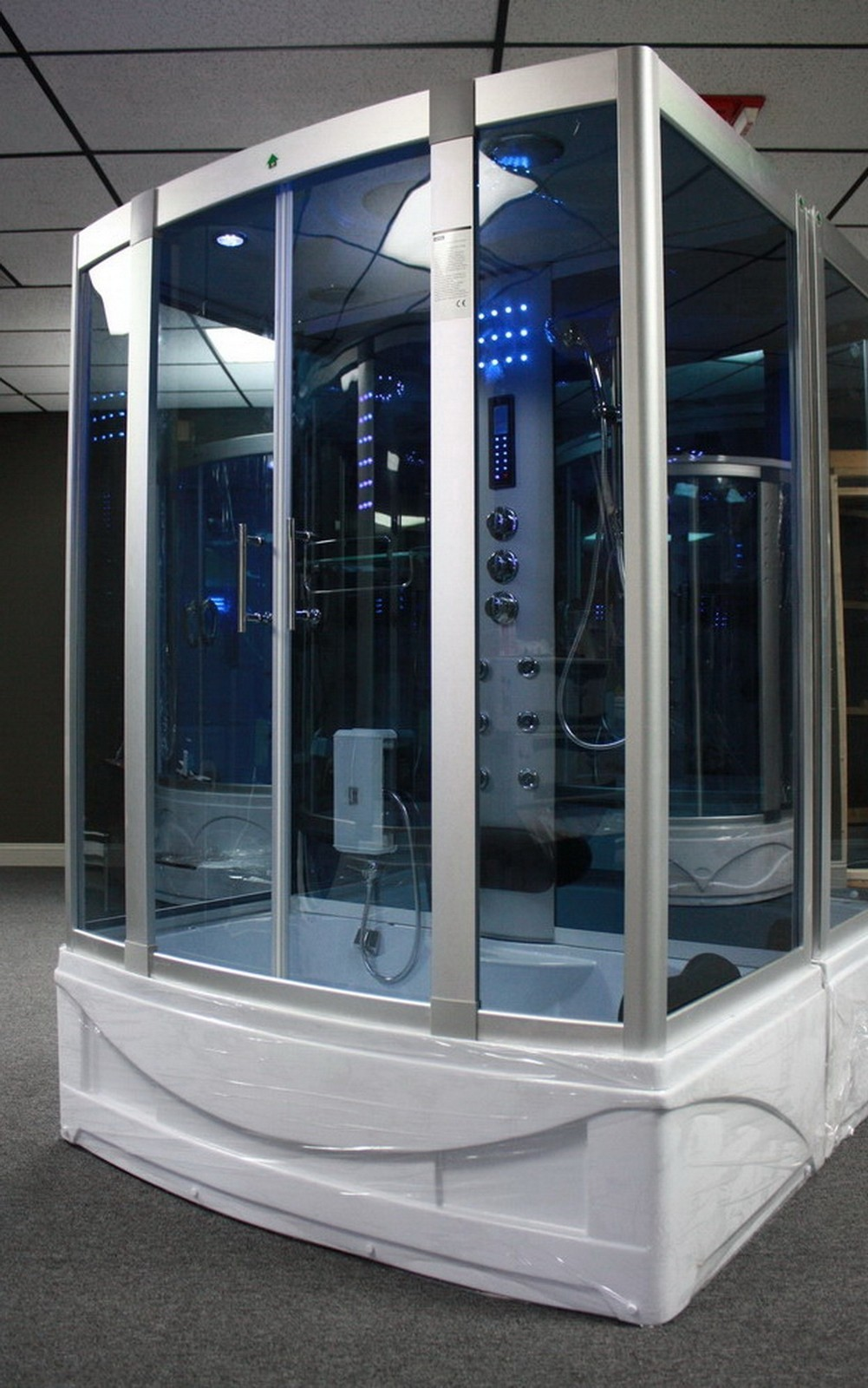 Steam Shower Room With deep Whirlpool Tub,BLUETOOTH. 9001 - Image 1