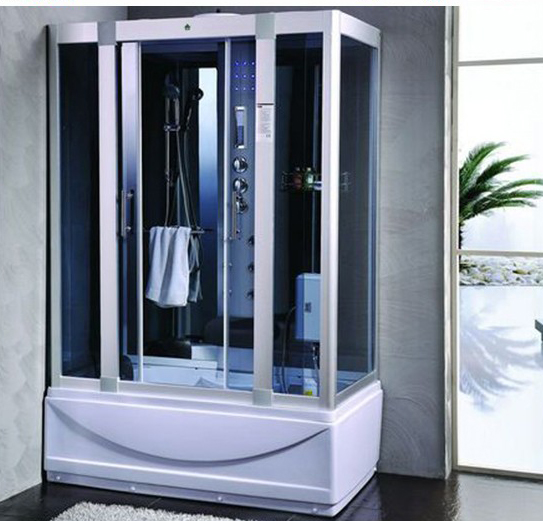 Exceptional Steam Shower Room With Deep Whirlpool Tub W/Air Bubble.Termostatic.  BLUETOOTH.