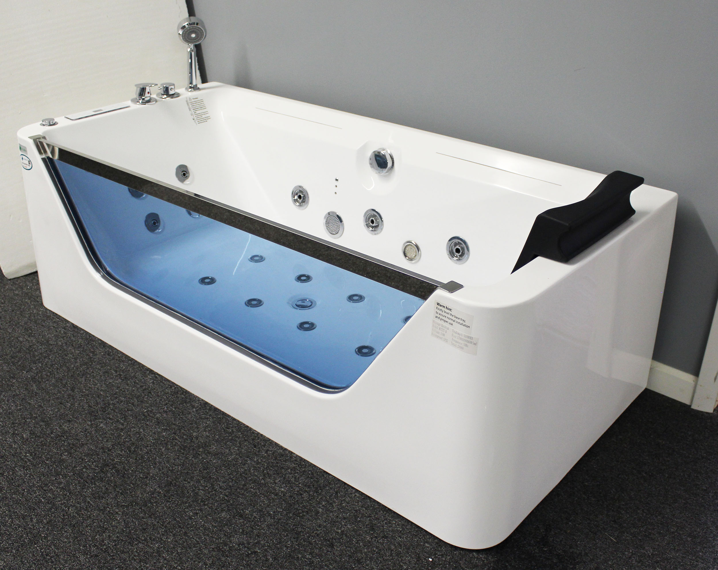 Gentil M1777   Image JETTED BATHTUB ,Whirlpool U0026amp; Air Massage, Waterfall ,Heater .