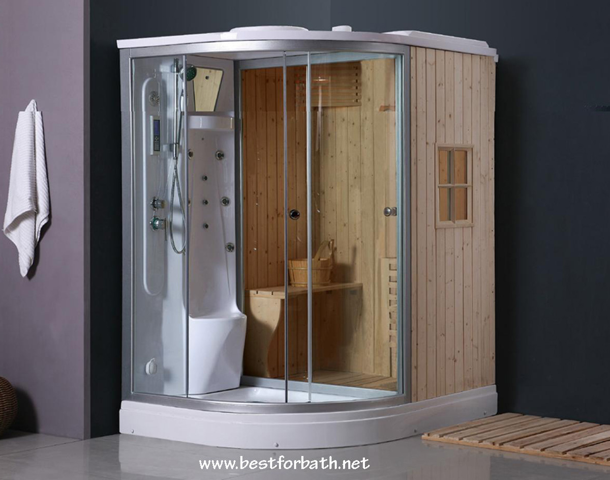 Deluxe Shower Dry Sauna Combo System Steam Cabin B001