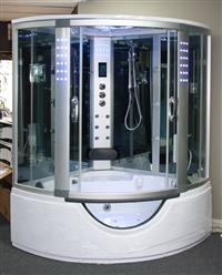 Big Steam Shower Room w / Whirlpool tub,Jacuzzi.Heater.Thermostatic, Bluetooth Audio .9042 - Image 3