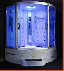 Big Steam Shower Room .Whirlpool tub w/Heater (1500W),Jacuzzi, Bluetooth Audio. 9011 - Image 1