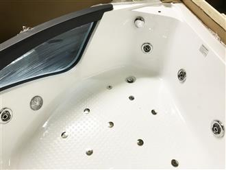Corner JETTED BATHTUB ,Whirlpool & Air Bubble & Massage,Heater. C038 - Image 8