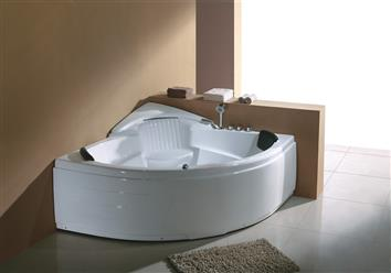 Corner JETTED BATHTUB,Hydromassage,Whirlpool,Air Bubble & waterfall. M3015 - Image 2