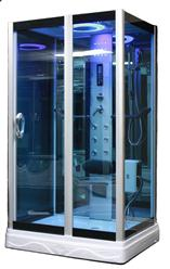 Square Steam Shower Enclosure w/Hydro Massage Jets.Aromatherapy.Bluetooth. 9009 - Image 2