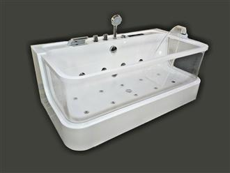 JETTED BATHTUB Hydromassage,Whirlpool,Air Bubble & waterfall,Heater. US Warranty 0450 - Image 2