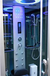 Square Steam Shower Enclosure w/Hydro Massage Jets.Aromatherapy.Bluetooth. 9009 - Image 4