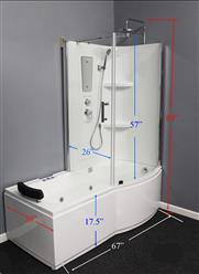 Shower Room with Deluxe Whirlpool Tub . 9045 Lux with air bubbles - Image 9