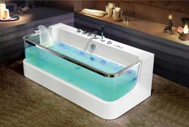 JETTED BATHTUB Hydromassage,Whirlpool,Air Bubble & waterfall,Heater. US Warranty 0450 - Image 1