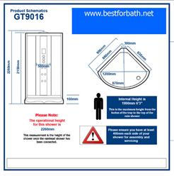 Steam Shower Room Enclosure w/Massage Jets.Termostatic.BLUETOOTH. 9016. - Image 6